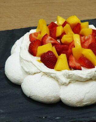Pavlova mangue fraise