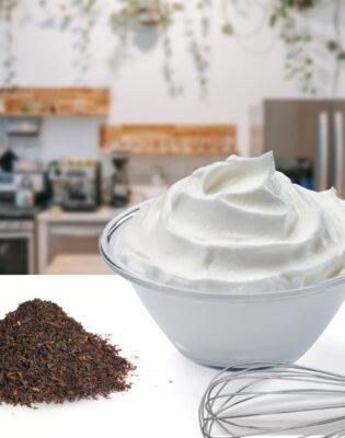 Crème fouettée ou chantilly au thé