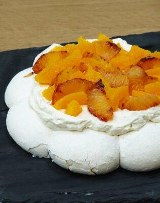 Pavlova orange et orange sanguine