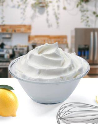 Crème fouettée ou chantilly au citron